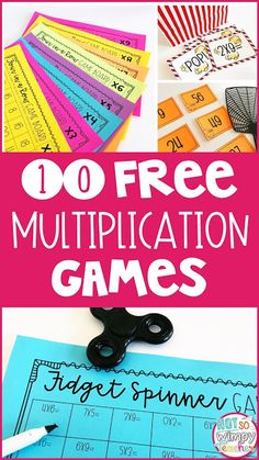 FREE Multiplication Math Facts Games These FREE multiplication games are perfect for guided math and math centers. Games make learning math facts a ton more fun! Math Tutor, Teaching Math, Math Education, Teaching Spanish, Kindergarten Math, Math Intervention, Third Grade Math, Grade 3, 4th Grade Math Games
