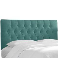 Skyline Tufted Linen Upholstered Headboard Laguna, Size: California King - 544CLNNLGN