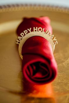 HOLIDAY Napkin Ring Gift Set, set the table for the holidays, christmas table, christmas party ideas