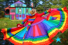 rainbow recycled sweater coat. Want.