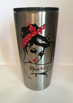 Hey, I found this really awesome Etsy listing at https://www.etsy.com/listing/470839211/rosie-the-riveter-20oz-tumbler