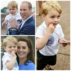 Prince George and mom and dad.