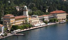 Vista panoramica Grand Hotel, direttamente sul Lago di Garda #lagodigarda #lakegarda #gardasee