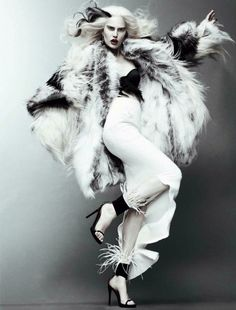 Model: Alla Kostromichova Stylist: Olga Dunina Photographer: Jason Kibbler Studio #crudelia #cruella #crudeliademon #cruelladevil #fashion