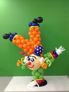 Palhaço feito com balões