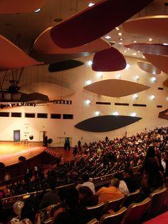 Aula Magna Universidad Central de Venezuela. arq. Carlos Raul Villanueva. Nubes acustica de Alexander Calder