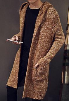 Men's Hand Knitted Cardigan XS,S,M,L,XL,XXL jacket Wool Hand Knit sweater b26 #Handmade #Cardigan