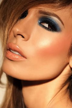 Not usually a fan of any blue eyeshadow, but this deep navy looks really pretty on brown eyes. (Troy Jensen)
