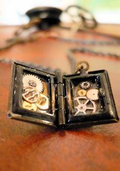 tiny book with tiny clockwork