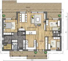HARMAJA 134 - Kannustalo House Plans, Sweet Home, Floor Plans, Cottage, Flooring, How To Plan, Architecture, Interior, Design