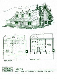 Log Home Package Kits - Log Cabin Kits - Hampton Model