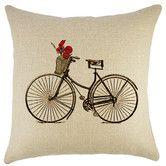 Found it at Wayfair - Bike Burlap Throw Pillow