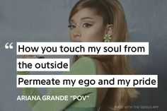 Ariana Grande Lyrics, The Outsiders, Positivity, Album, Card Book, Optimism