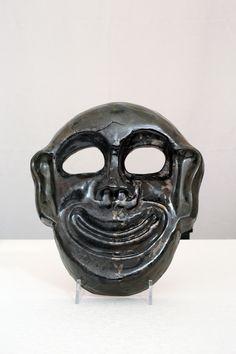 ALEXIOS. Maschera in terracotta dipinta con smalto,fatto a mano.Pezzo unico.Made in Italy