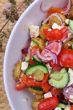 Caprese Salad, Cobb Salad, Feta, Dessert Recipes, Desserts, Allrecipes, Broccoli, Potato Salad, Tapas