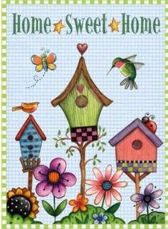 Debra Jordan - Somogyi Erika - Álbuns da web do Picasa Tole Painting, Painting On Wood, Diy And Crafts, Arts And Crafts, Bird Houses Painted, Bird Quilt, House Quilts, Cross Stitch Bird, Cute Clipart