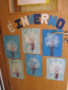 Arvores inverno Mais Winter Fun, Winter Christmas, Christmas Crafts, Crafts For Kids, Arts And Crafts, Kindergarten Centers, Eyfs, Pre School, Preschool Activities