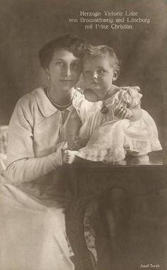 Duchess Viktoria Luise of Brunswick-Lüneburg with son Prince Christian | Flickr - Photo Sharing!