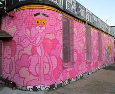 Pink Panther Mural By Jerkface