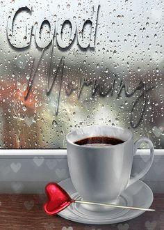 Rainy Morning Quotes, Good Morning Rainy Day, Good Morning Gift, Good Morning Coffee Gif, Latest Good Morning, Good Morning Picture, Beautiful Morning Pictures, Good Morning Beautiful Gif, Good Morning Images Flowers
