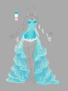 Drawing Anime Clothes Outfits Special Events 42 Ideas For 2019 Anime Kimono, Anime Dress, Drawing Anime Clothes, Dress Drawing, Fashion Design Drawings, Fashion Sketches, Illustration Mode, Dress Sketches, Character Outfits