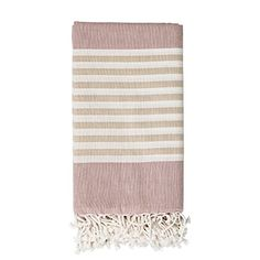 Bloomingville Hammam Towels, White Beige, Mauve Stripes B... https://www.beaumonde.co.uk/products/bloomingville-hammam-towels-white-beige-mauve-stripes