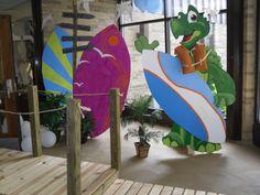 surf boards VBS entrance