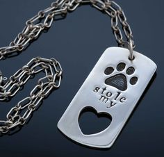 This was created as a tribute piece to my first aussie. Her name is stamped on the back. Graphic Patterns, Dog Tag Necklace, Silver Jewelry, Stamp, Design, Stamps, Silver Jewellery, Design Comics