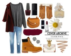 """""""Outfit"""" by ellie-handibode ❤ liked on Polyvore featuring Frame Denim, Timberland, OPI, NARS Cosmetics, Forever 21, Marc by Marc Jacobs and Bulgari"""