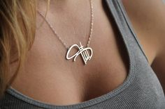 Personal Signature Necklace, Silver, Name from Capucinne by DaWanda.com