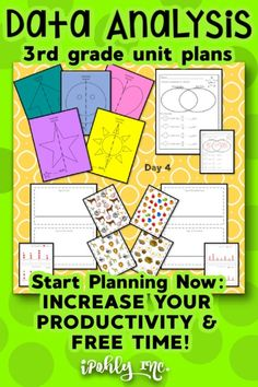 #3rdgrade teachers, you have all summer to get ready for next year!  #Classroom setup, #lessonplanning, #organization... Let me take something off your plate and plan your math class! This Data Analysis unit plan includes #worksheets, #games, #stations, #activities, #centers and more. Standards are even listed for each unit to save you even more time!  Check out ipohlyinc.com for more amazing #guidedmath lessons! #dataanalysis #graph #flipbook Math Lesson Plans, Math Lessons, Classroom Setup, Math Classroom, Teaching Activities, Classroom Activities, Learning Targets, 3d Figures, Student Data
