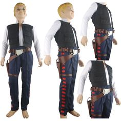 Star Wars Han Solo costume outfit deluxe halloween costume xmas gift for kids children birthday gift daily use anime comic-con costume Star Wars toys