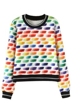 Brightly Rainbow Hue Sweatshirt