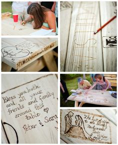 wood guest books | Wood Round Guest Book
