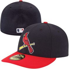 fd354d9f14e Men s St. Louis Cardinals New Era Navy Red Authentic Collection Low Profile  Home 59FIFTY Fitted Hat