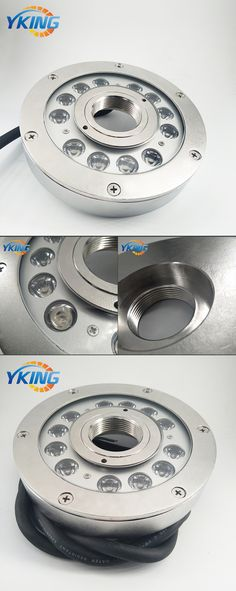 New design 316L Stainless steel IP68 12W/36W LED fountain light Mode No.: YK-FT104 12W Material: 316L Stainless steel + 8mm Tempered Glass LED: 12x1W/3W Cree/Epistar 3in1 LED Chips. Size: D168*H31mm Beam Angle: 30/45/60/90 Power: 12W-36W Voltage: DC24V Color: Single Color/RGBV+ (Constant Voltage) Cable: 1.5M UL Rubber Cable Waterproof: IP68 Underwater use Warranty: 3 years email:sales1@yaokingled.com Tel:+86-15889359850 (Whatsapp/Wechat) Skype: yaokingled website: www.yaokingled.com/en