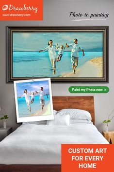 Drawberry lets you find a talented artist to turn your photo to painting and order artwork for home or office use. Get canvas art for less. Paint My Photo, Family Painting, Artwork For Home, Cherished Memories, Decorating On A Budget, Life Inspiration, Precious Moments, Best Artist, Custom Art