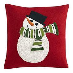 Snowman Pillow - Crate & Barrel
