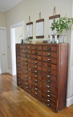 Gorgeous old card catalog - how cool would this be for your lingerie and jewelry?
