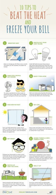 Easy ways to beat the heat and SAVE ENERGY plus a free printable checklist!