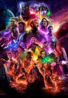 Avengers Film End Game Hot Marvel Poster Art Home Room Wall Printing Decor Captain Marvel, Marvel Avengers, Hero Marvel, Marvel Comics, Thanos Marvel, Memes Marvel, Marvel News, Thanos Hulk, Funny Avengers