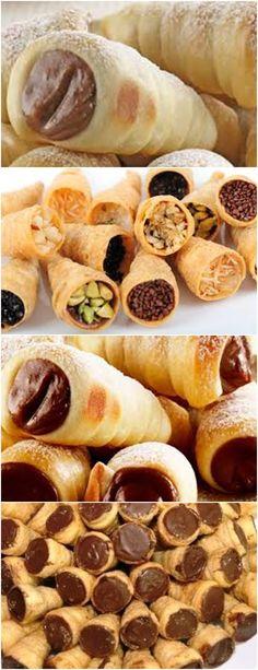 Diy food recipes desserts parties ideas for 2019 Party Desserts, Dessert Recipes, Cannoli, Canapes, Bread Baking, Diy Food, Finger Foods, Sweet Recipes, Carne