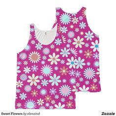 Sweet Flowers Tank Top by Elenaind #Zazzle