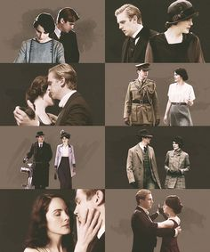 Mary and Matthew through the ages #DowntonAbbey