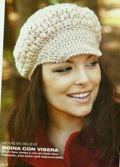 Patrón #518: Boina a Crochet #ctejidas http://blgs.co/97GmtB