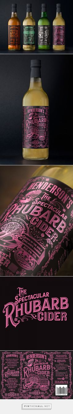 The Spectacular Packaging of Henderson's Spectacular Rhubarb Cider