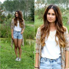 Vest, American Apparel Tshirt, Levi's® Shorts, Converse Sneakers, Coolcat Necklace