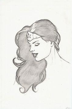Wonder Woman-Head Drawing by *carstenbiernat on deviantART