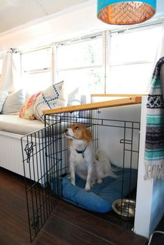 4 Genius Small Space Solutions to Steal from a Home in a School Bus   Apartment Therapy