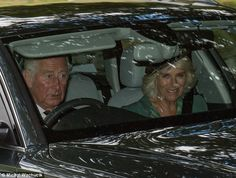 dailymail: Sunday Service, Crathie Church, Balmoral, August 13, 2017-Prince of Wales and Duchess of Cornwall